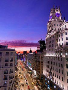 Madrid hotel view