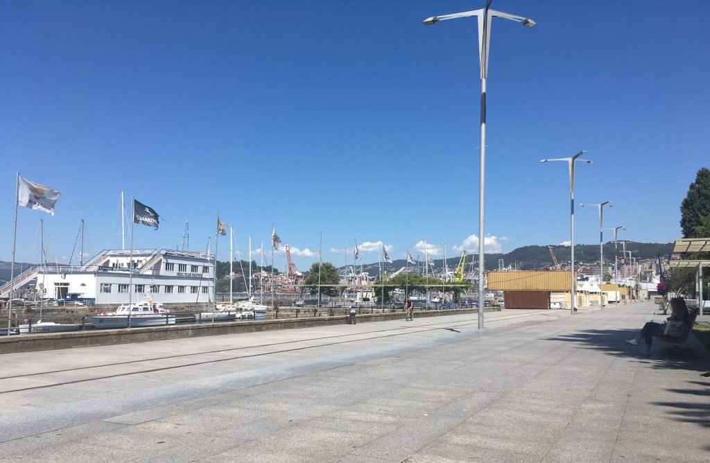 Where to stay in Vigo - the marina is popular