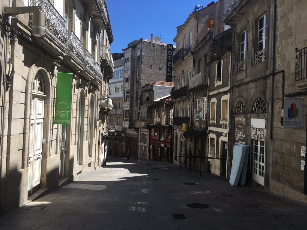 Typical streets in Vigo, Galicia