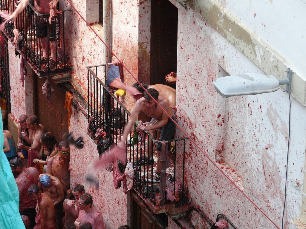 Tomatina is an interesting event in Spain