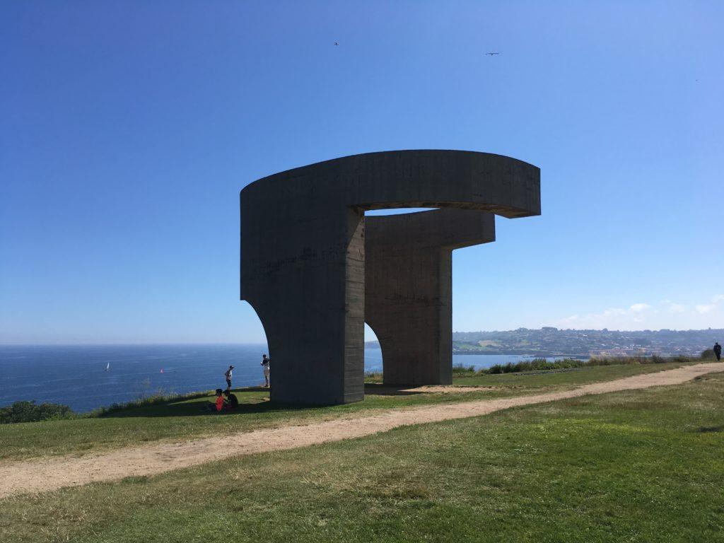 Monument in Gijón, Spain